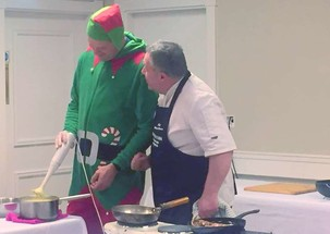 Christmas Cookery Demo Gets A  Little 'Elf' From A Friend